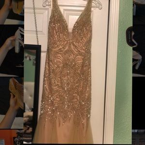 Gold dress with bling!